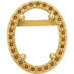 Stuller 14K Yellow 5x3 mm Oval Halo-Style Earring Mounting