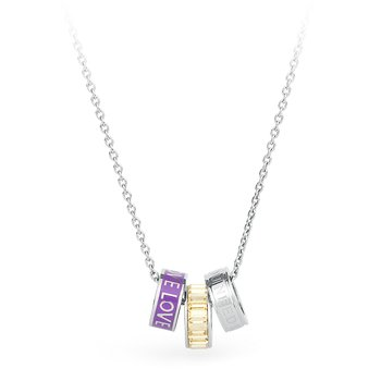 316L stainless steel, enamel, engraving and crystals Swarovski® Elements