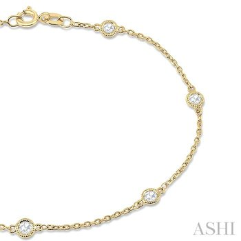 rose cut diamond chain bracelet
