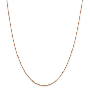 Leslie's 14K Rose Gold 1.3 mm D/C Loose Rope Chain