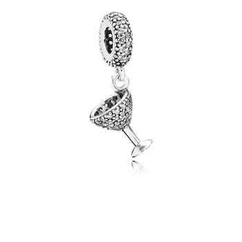 Night Out Dangle Charm, Clear Cz