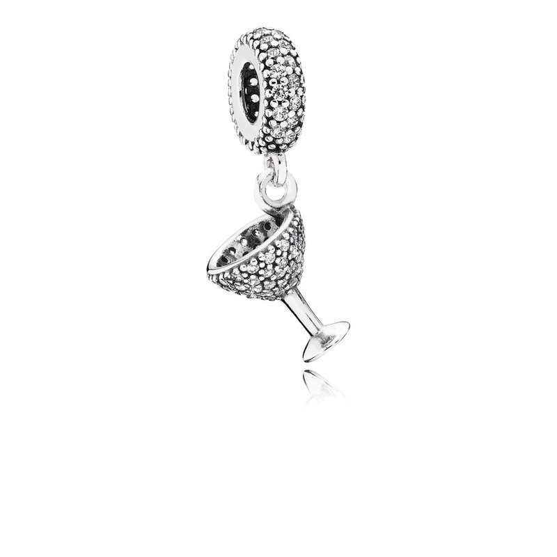PANDORA Night Out Dangle Charm, Clear Cz