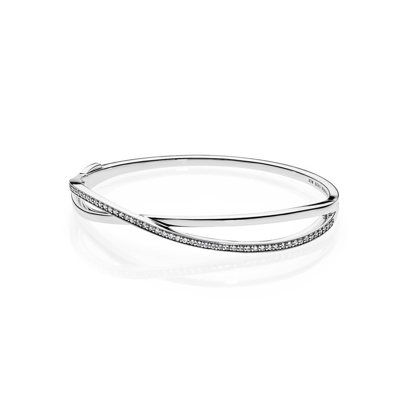 20597de50 David Arlen Jewelers: PANDORA Entwined Bangle Bracelet, Clear CZ