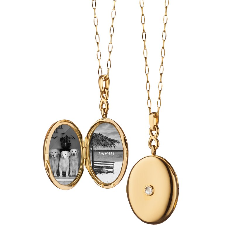 Monica Rich-Kosann Infinity Diamond Locket