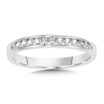 Channel-Set Diamond Wedding Band