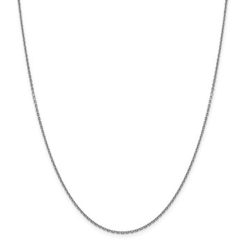 Leslie's 14K White Gold 1.5mm D/C Rolo Chain