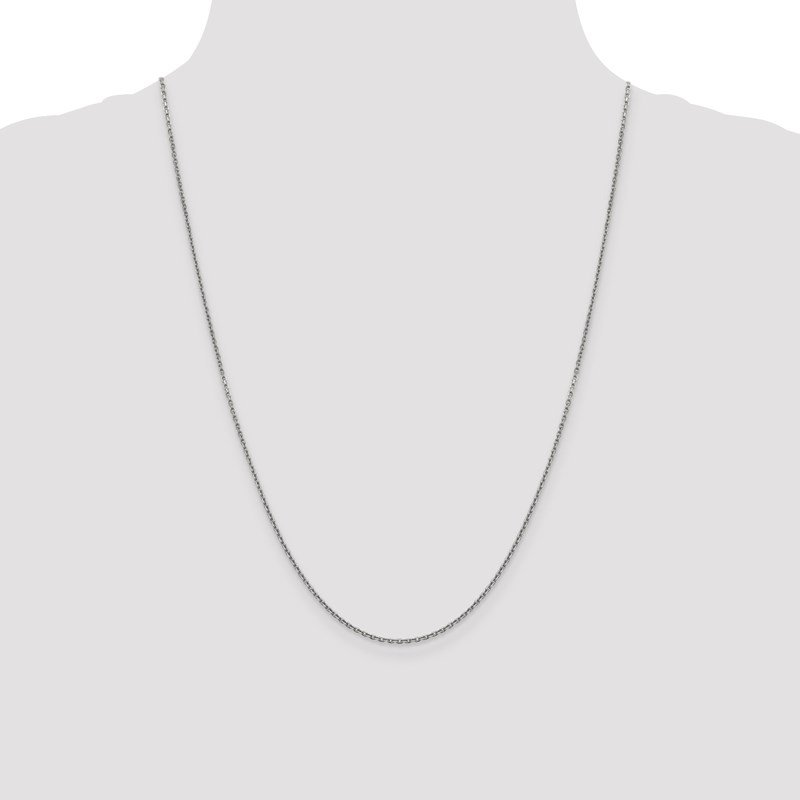 Leslie's Leslie's 14K White Gold 1.5mm D/C Rolo Chain