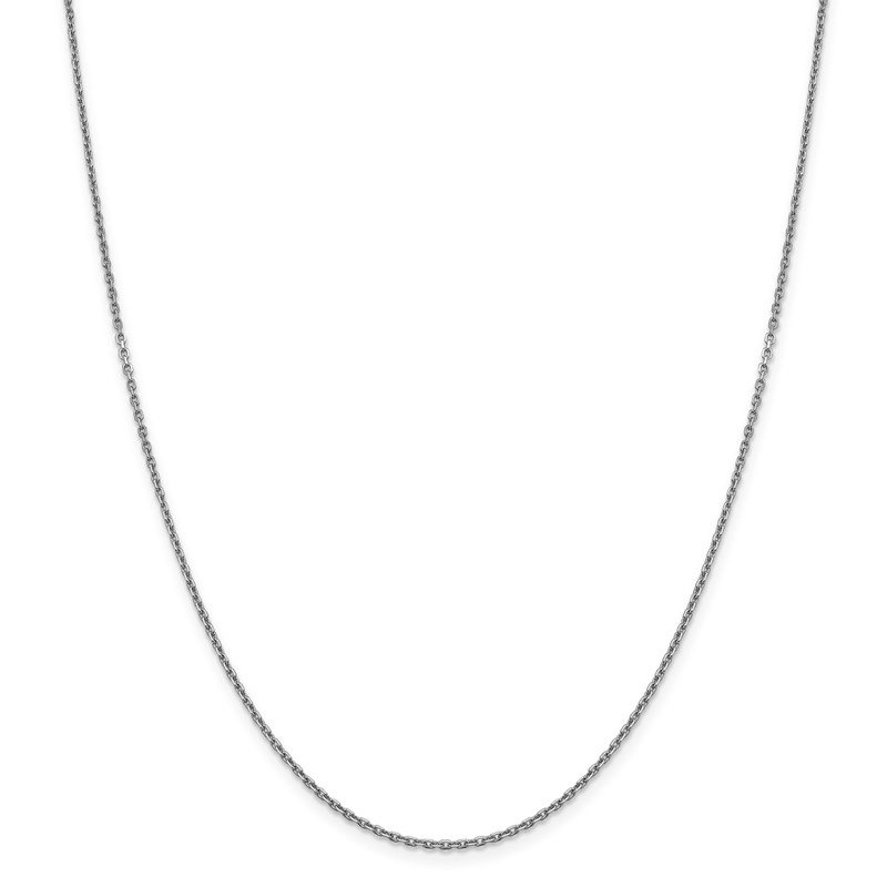 Leslie's Leslie's 14K White Gold 1.5 mm D/C Rolo Chain
