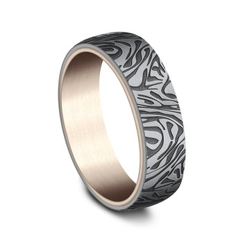 Ammara Stone Comfort-fit Design Wedding Ring