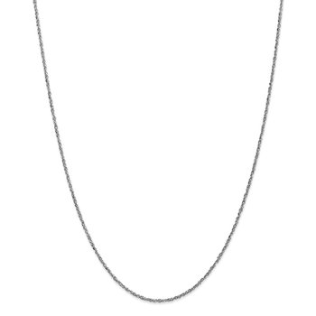 14K White Gold 1.7mm Ropa Chain Anklet
