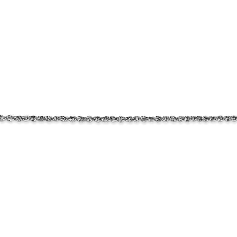 Quality Gold 14K White Gold 1.7mm Ropa Chain Anklet