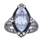 Royal Chain Sterling Silver Quartz Gem Candy Ring