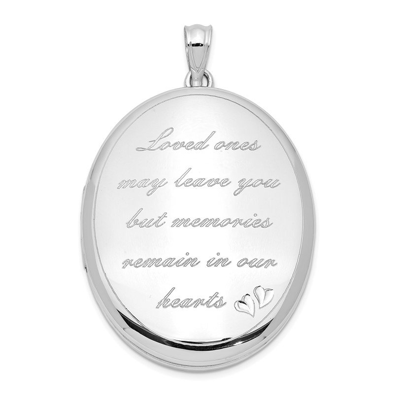 Quality Gold Sterling Silver Rhodium-plated Loved Ones Ash Holder Oval Locket