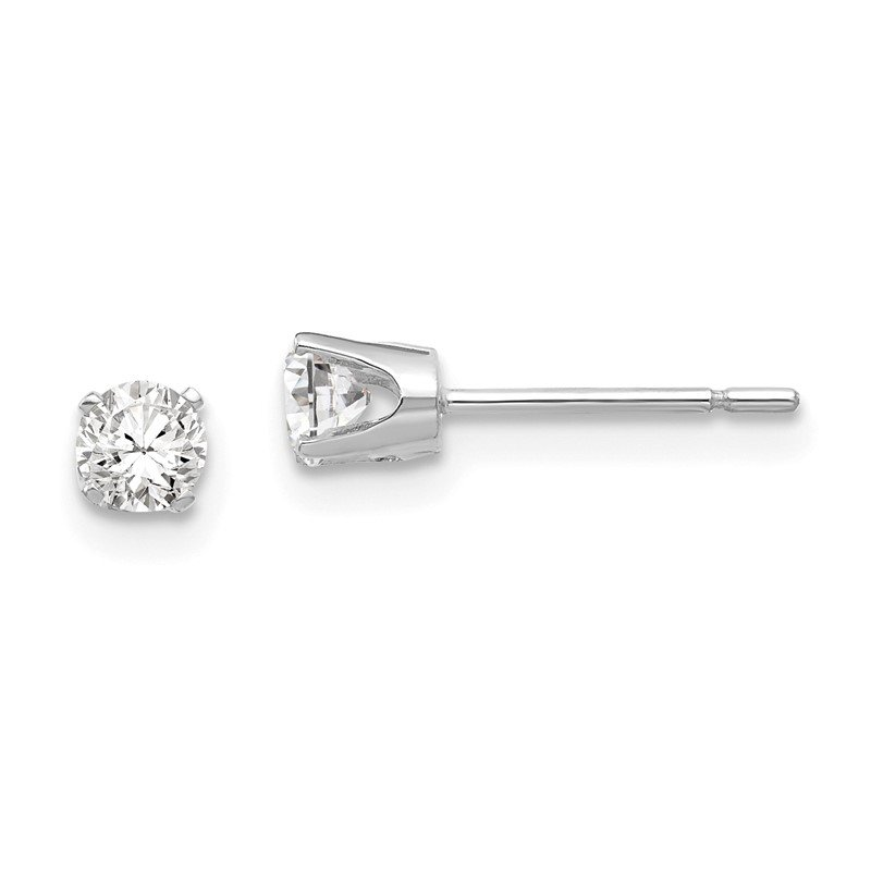 Quality Gold 14k White Gold 3.5mm CZ stud earrings