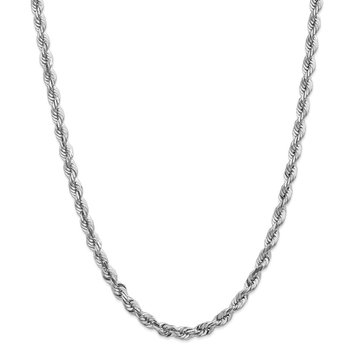 14k White Gold 5.5mm D/C Rope with Lobster Clasp Chain