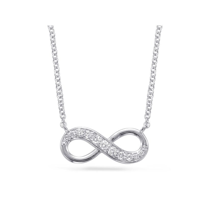 S. Kashi  & Sons White Gold Infinity Sign Necklace