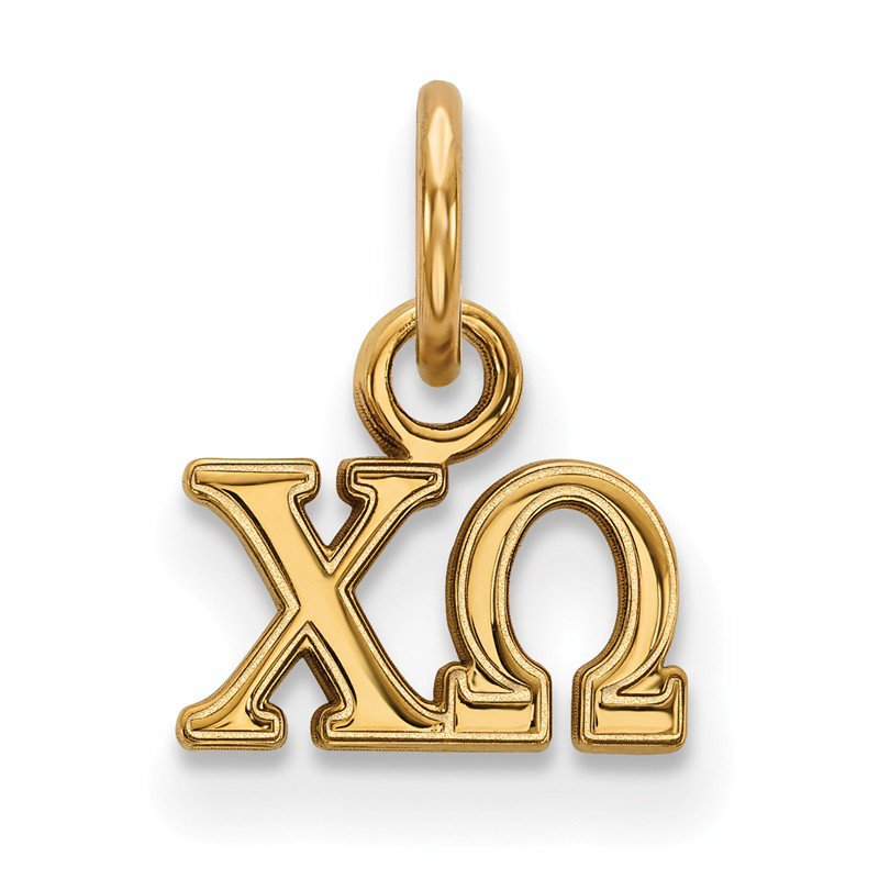 Greek Life Gold-Plated Sterling Silver Chi Omega Greek Life Pendant