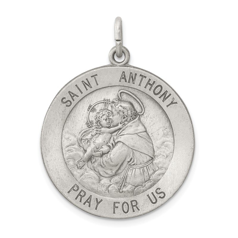 JC Sipe Essentials Sterling Silver Antiqued Saint Anthony Medal