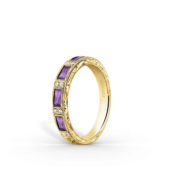 Amethyst Colorful Diamond Wedding Band