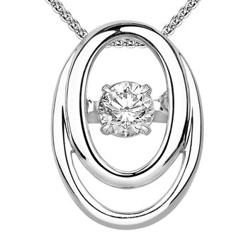 14K Diamond Rhythm Of Love Pendant 1/8 ctw