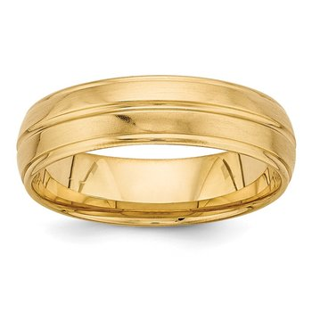 14k Yellow Gold Heavy Comfort Fit Fancy Band