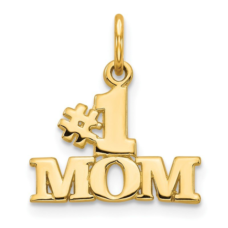 Quality Gold 14k #1 MOM Charm