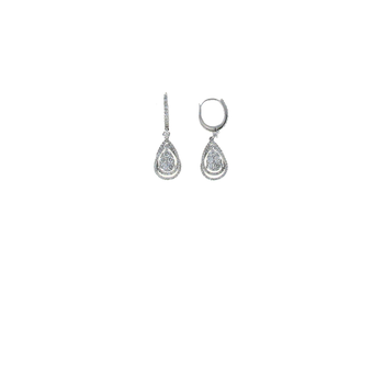 18KT GOLD DIAMOND TEARDROP EARRINGS