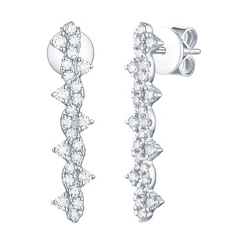 Smiling Rocks 0.51Ct G-H/VS1 Lab Grown Diamond Wave Bar Earring
