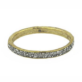 Kristal Hinge Bangle - Brass