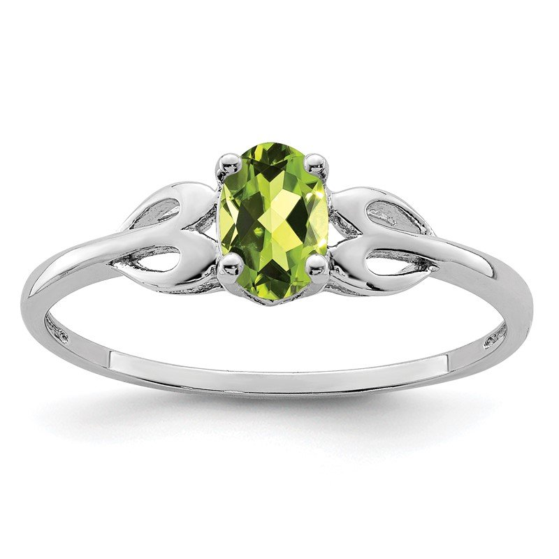 Quality Gold Sterling Silver Rhodium-plated Peridot Ring