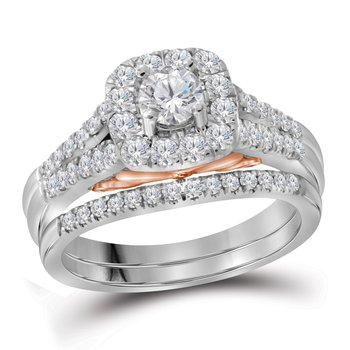 1CTW 14KT 1/3CT-CRD BRIDAL SET
