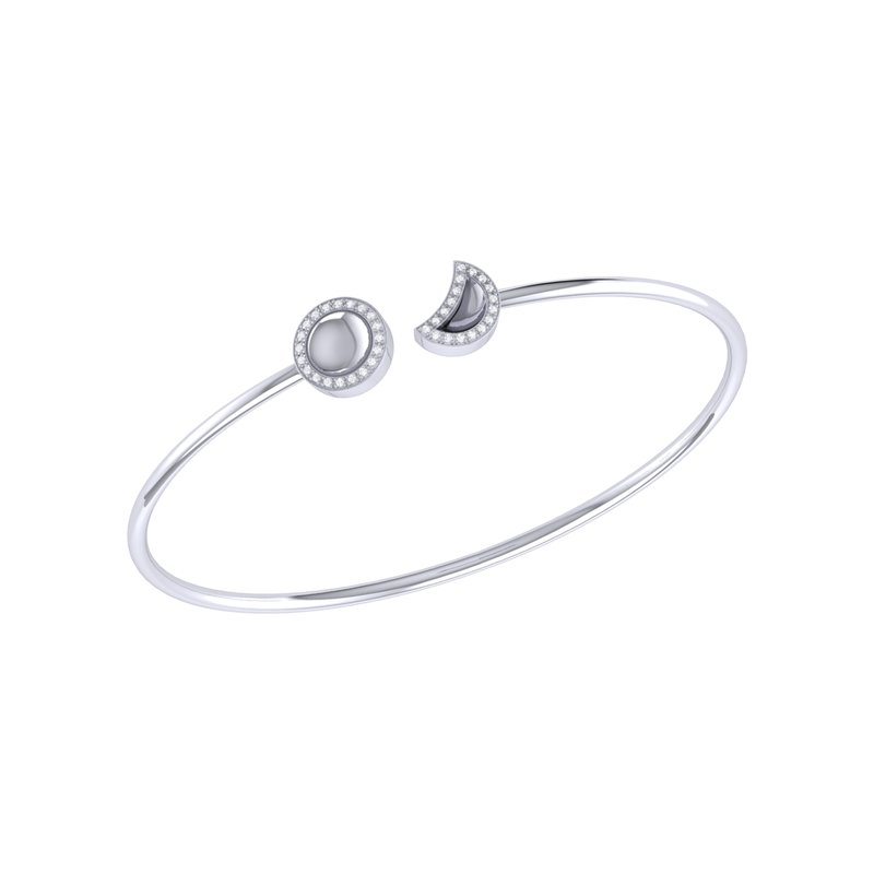 Luv My Jewelry Moon Phases Cuff in Sterling Silver