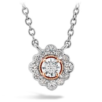 Liliana Flower Pendant w/Platinum