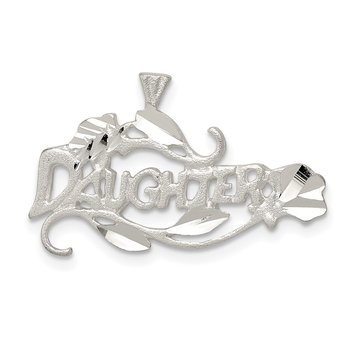 Sterling Silver Daughter Charm