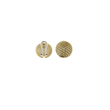 18KT GOLD ROUND EARRINGS