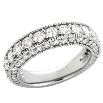 White Gold Bridal Band