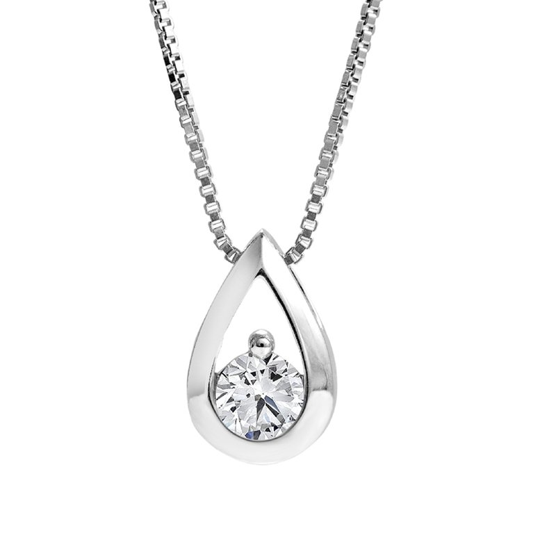 Teardrop Diamond Pendant