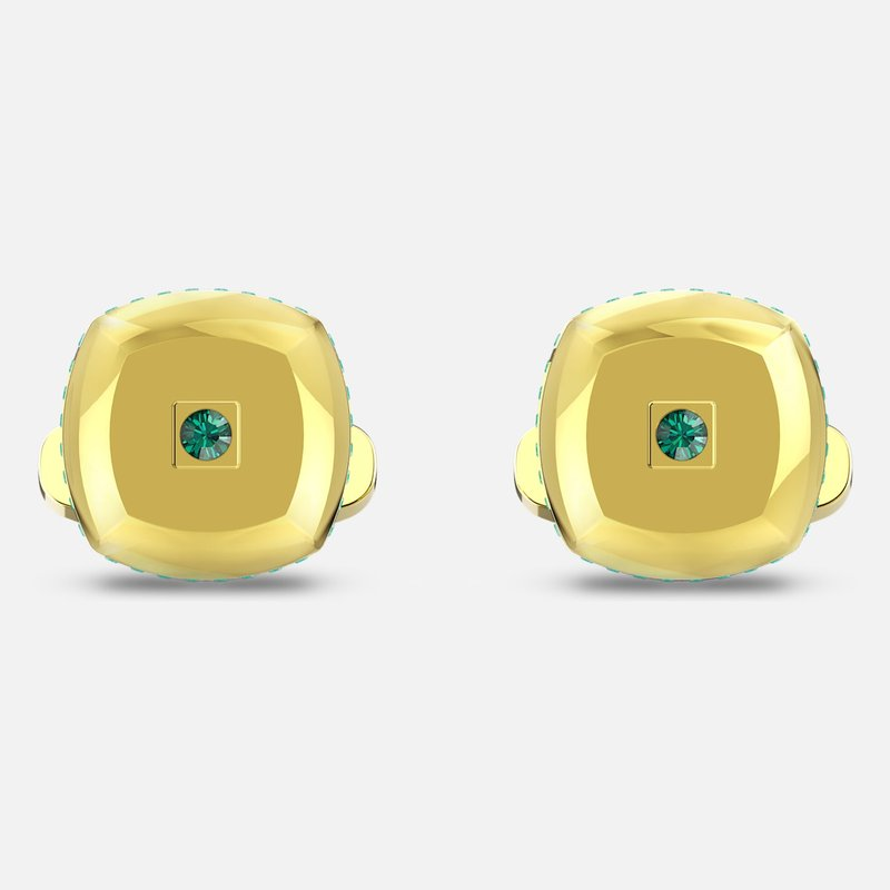 Swarovski Theo Earth Element Cufflinks, Green, Gold-tone plated