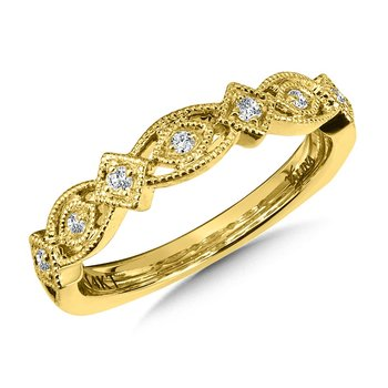 Stackable Wedding Band in 14K Yellow Gold (.10 ct. tw.)