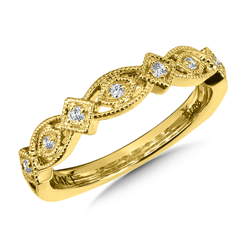 Valina Stackable Wedding Band in 14K Yellow Gold (.10 ct. tw.)