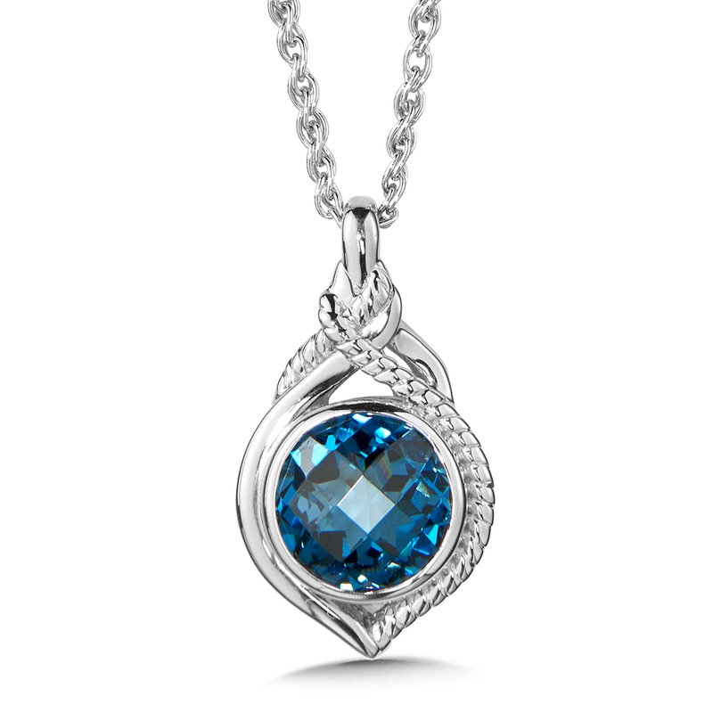 Colore Sg Sterling Silver London Blue Topaz Pendant