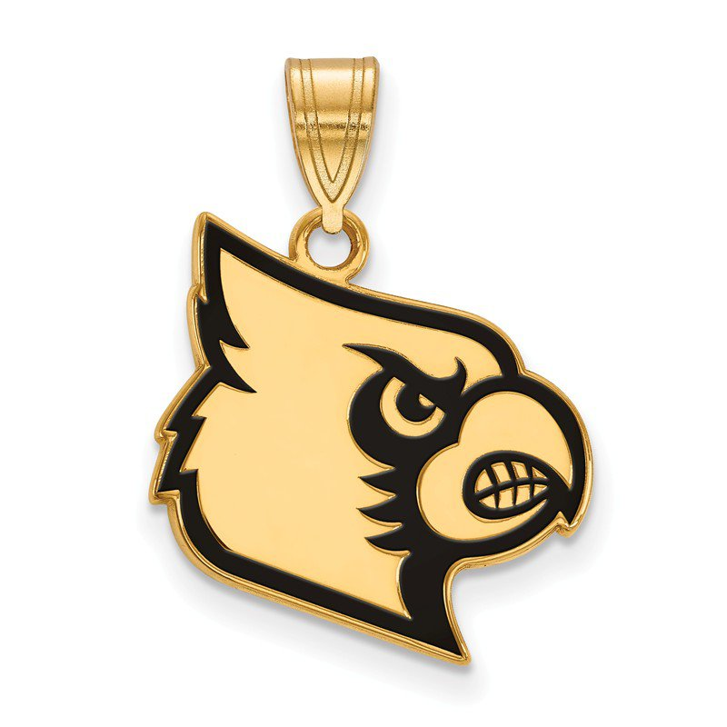 NCAA Gold-Plated Sterling Silver University of Louisville NCAA Pendant