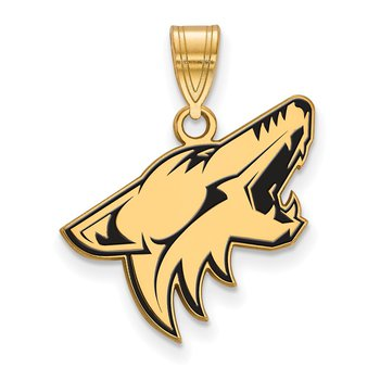 Gold-Plated Sterling Silver Phoenix Coyotes NHL Pendant