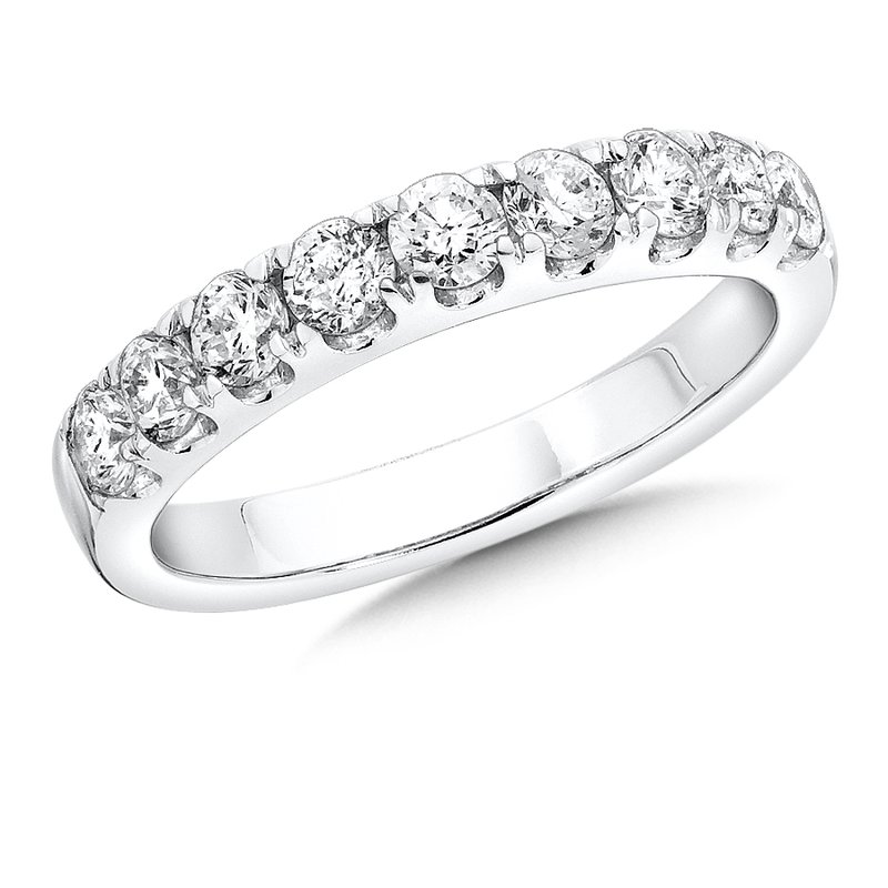SDC Creations Prong set Diamond Wedding Band 14k White Gold (1/3 ct. tw.) GH/SI1-SI2