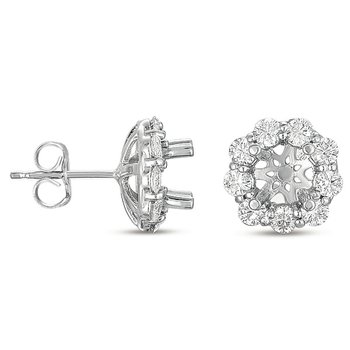 Halo Diamond Earring for 1ct total