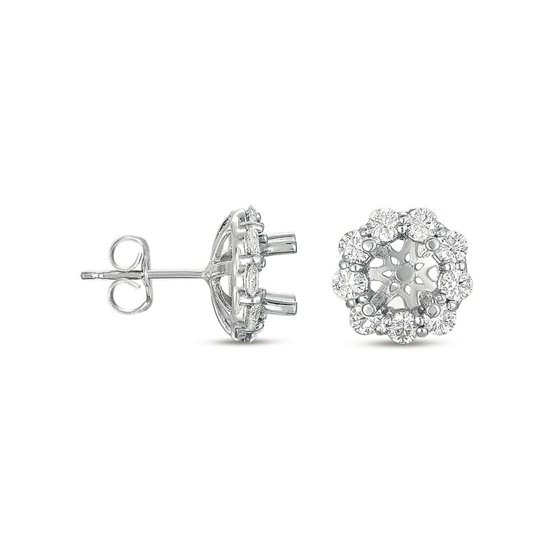S. Kashi  & Sons Halo Diamond Earring for 1ct total