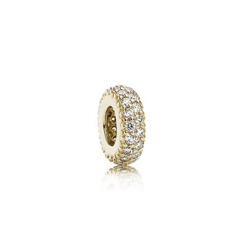 Inspiration Within Spacer, 14K Gold Cz