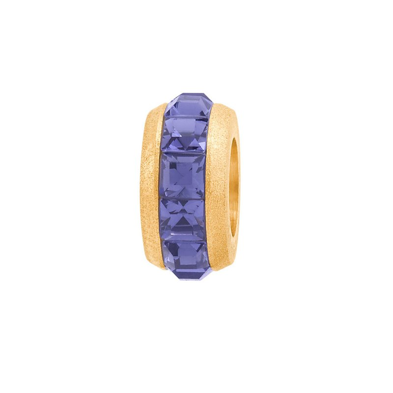 Brosway 316L silk-finished stainless steel, gold pvd and violet Swarovski crystals