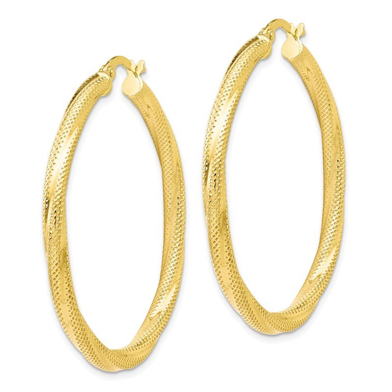 Leslie's Leslie's 10K Twisted Hinged Hoop Earrings