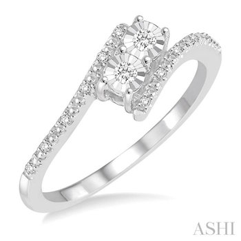 silver 2stone diamond ring